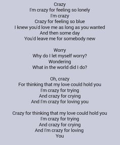 Patsy Cline . Crazy