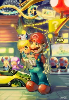 Nintendo, please have a series where Mario and Luigi live somewhat normal lives and the story is before and after the core games. Super Mario Brothers, Super Mario Bros, Super Mario All Stars, Super Mario World, Nintendo Game, Nintendo World, Nintendo Characters, Video Game Characters, Super Smash Bros