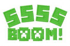 SSSS boom machine embroidery design. Machine embroidery design. www.embroideres.com