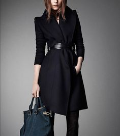 Winter Coat Black Coat Long Wool Coat Winter by colorfulday01, $119.00