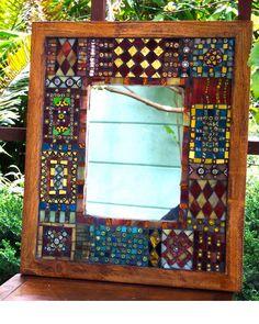 Skye mirror mosaic beads