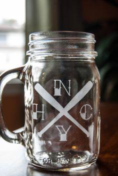 NYHC New York Hardcore custom etched Mason Jar with by churchkey, $10.00  NYHC, Hardcore