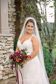 Our bride Grace in her @martinaliana gown. Last minute unfortunate circumstances made this bride's wedding date get pushed months earlier than expected, but you would never know...she looked stunning! Clark Berry Photography.