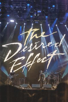 The stage on the 1st live show for the new upcoming solo album The Desired Effect by Brandon Flowers