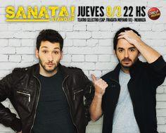 Sanata Stand Up SANATA es un espectáculo de Stand Up, protagonizado por Dario Orsi y Mike Chouhy, a lo que se suman sketches e improvisación... El resto te lo conta... http://sientemendoza.com/event/sanata-stand-up/