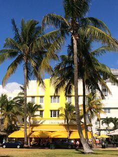 Miami Océan Drive - yellow