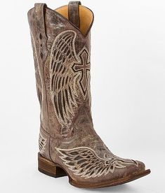 """Corral Wing Cross Cowboy Boot"" www.buckle.com"