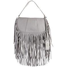 Umhängetasche mit Fransen - Umhängetasche mit Fransen in Grau von Buffalo. - ab 79,90€ Fringes, Handbags, Grey