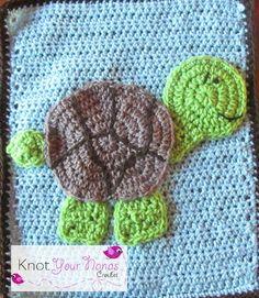 Turtle Applique / CROCHET