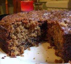 Brown Sugar Mincemeat Cake. Despite it's name mincemeat contains no meat (although it used to) but is a delicious combination of dried fruits, spices, sugar, suet, apples and brandy.