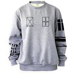 Noonew Women's Twenty One Pilots Tyler Joseph Tattoo Sweatshirt... ($29) ❤ liked on Polyvore featuring tops, hoodies, sweatshirts, pullover sweatshirt, shirt top, gray pullover, gray shirt and pullover shirt