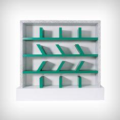 Early edition 'Survetta' Bookcase : Ettore Sottsass for Memphis. Design Furniture, Cool Furniture, Furniture Storage, Conception Memphis, Memphis Furniture, Memphis Milano, Modern Bookcase, Memphis Design, Table Design