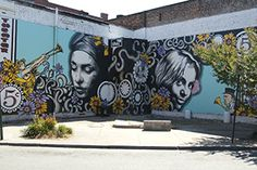 Check out the Murals of Virginia, like this one on Broad Street in Richmond, VA. Artist is Richmonder Hamilton Glass.