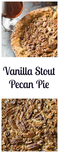 Vanilla Stout Pecan Pie is a decadent and delicious dessert perfect for the holidays - both the pie and the crust are made with vanilla stout beer | Beer Girl Cooks