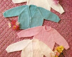 PDF Knitting Pattern for a Aran Jacket/Coat Sweater Beret &