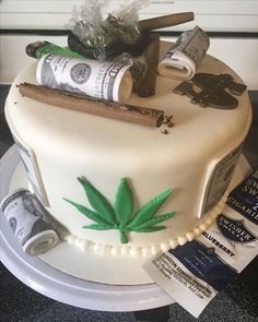 Magnificent Weed Cake Personalised Birthday Cards Veneteletsinfo