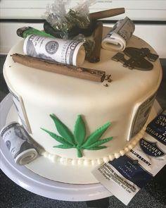 Superb Weed Cake Funny Birthday Cards Online Alyptdamsfinfo