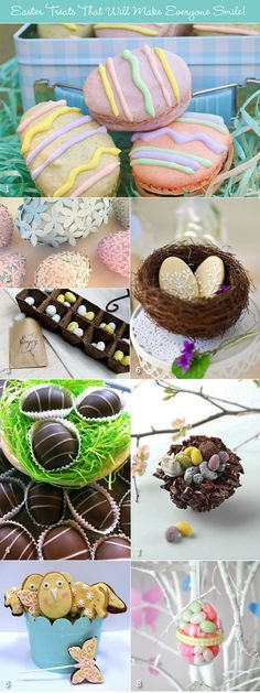 From chocolate eggs to egg shaped cookies, ideas for Easter sweets!