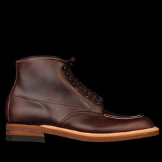 "-Made in the USA. -Brown chromexcel. -Matched eyelets. -Speed hooks. -Moc toe stitching. -Close heel storm welt. -Neoprene cork sole. -Trubalance last. This last fits large, we recommend sizing down a half size. -""D"" width."