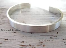 Men's Cuff Bracelet, Father's Gift, Sterling Silver, Hand Stamped, Personalized, Gift for Him, Secret Message