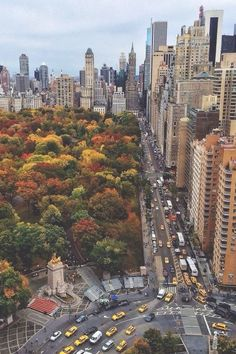 Central Park in autumn.