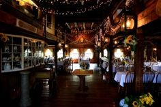 Salem Cross Inn's barn is the perfect place to combine elegance with New England country charm.
