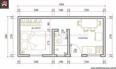 Casa 1 Quartos - 19.5m²