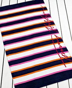 Tommy Hilfiger Towels, Stripe Beach Towel - Beach Towels - Bed & Bath - Macys