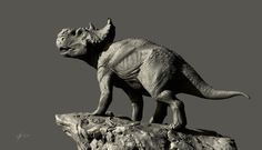 Pachyrhinosaurus, Sergey Avtushenko on ArtStation at https://www.artstation.com/artwork/LxL9P