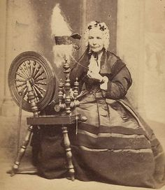 1860s-Scottish-Woman-Helensburgh. Note the bands of crape added to the gown.