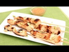 Chicken Satay Skewers Recipe - Laura in the Kitchen - Internet Cooking Show Starring Laura Vitale