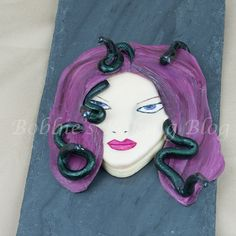 Hand painted fondant face