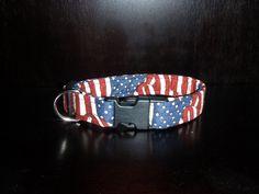 American Flag Print Dog Collar S,M,L or XL   $9.95