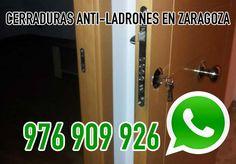 Instalación de cerraduras de seguridad antiladrones en Zaragoza