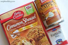 Easy Crock Pot Pumpkin Coffee Cake at anightowlblog.com | #crockpot #pumpkin #recipes