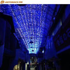 那覇市のとある商店街、 夜のイルミネーションが キラキラと素敵です(^▽^)/