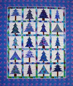 "Kevin Womack of Quilt & Sew Studio in Forest, Virginia, utilized Kaffe Fassett fabrics to make the ""Spring into Christmas"" quilt -- a pattern from Happy Stash Quilts."