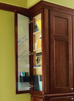Back to School Tip: A Wall Message Center helps you #organize a hectic family #schedule.
