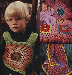 The Vintage Pattern Files: 1970's Crochet - Women's Day Granny Square Booklet