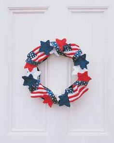 patriotic crochet wreath