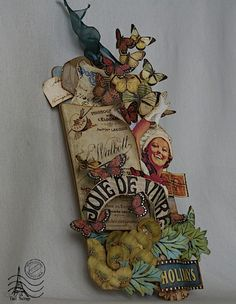 """""""I have used a lot of collections to make this tag: Typhography, Fashionista, Olde Curiosity Shoppe, Tropical Travelogue, On the Boardwalk, Couture!!! :) With a Graphic 45 Large Staples."""" - Tati #graphic45 #tags"""