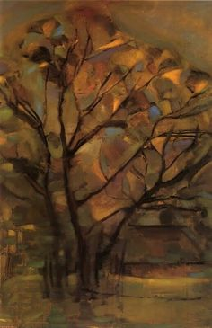 Piet Mondrian – Tall Tree Silhouettes with Bright Colors, - the McNay Art Museum Landscape Paintings, Fine Art, Dutch Painters, Dutch Artists, Tree Art, Painting, Art Movement, Landscape Art, Mondrian Art