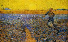 Van Gogh, Seminatore con sole che tramonte, 1888, olio su tela, Kroller-Muller Museum, Otello (Paesi Bassi)