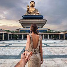 Follow me to the Big Buddha statue in Taiwan
