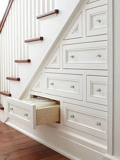 Staircase drawers!