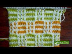 Como tejer Punto (puntada jacquard) CANASTA. Tejido con dos agujas # 141 - YouTube Knitting Designs, Knitting Patterns Free, Knit Patterns, Free Knitting, Stitch Patterns, Knitting Videos, Crochet Videos, Knitting Stitches, Crochet Baby