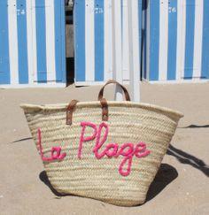 L'atelier Des Petites Bauloises: Panier de plage en osier