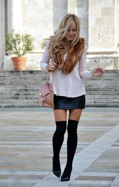 30 Best Winter Outfits. Like how the tights and heels look