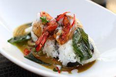 Shrimp curry on rice