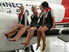 Air stewardess in pantyhose images 13